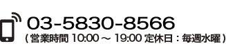 03-3258-7171 (営業時間 10:00~19:00定休日:毎週水曜 )