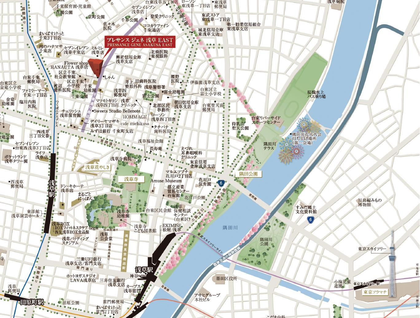 隅田川エリアマップ